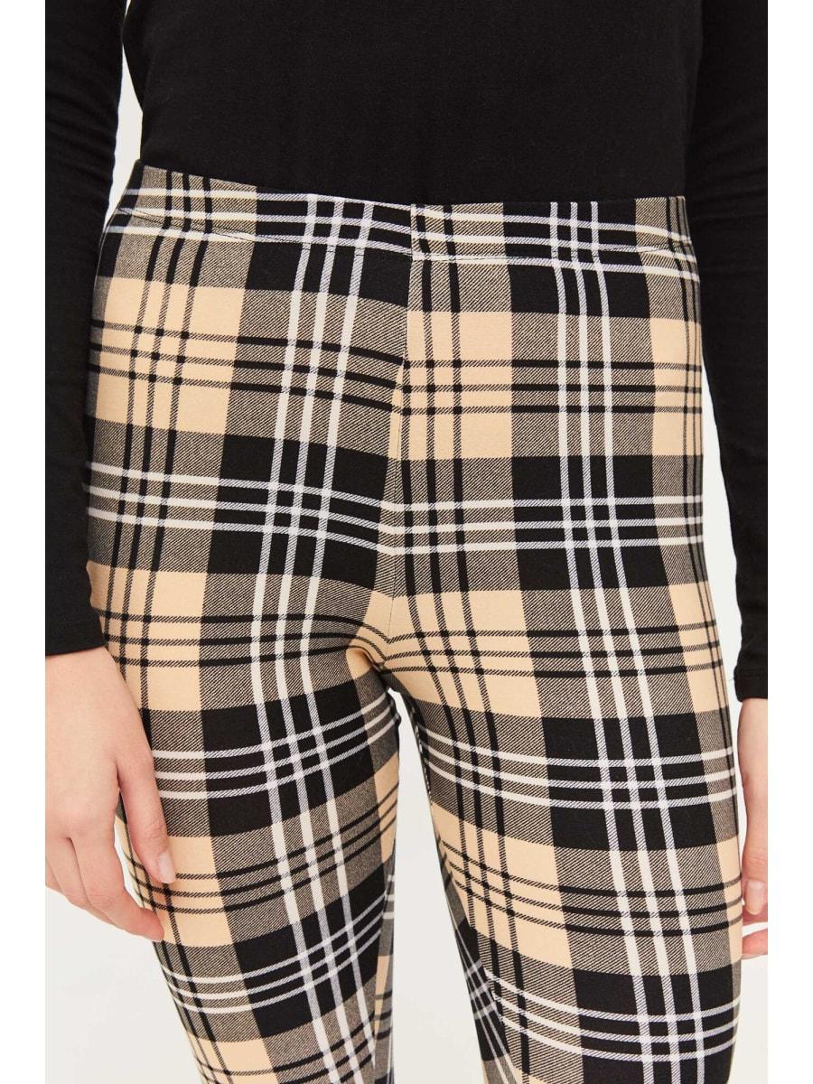 High waist plaid leggings