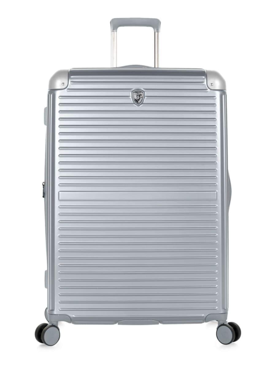 Heys silver spinner suitcase