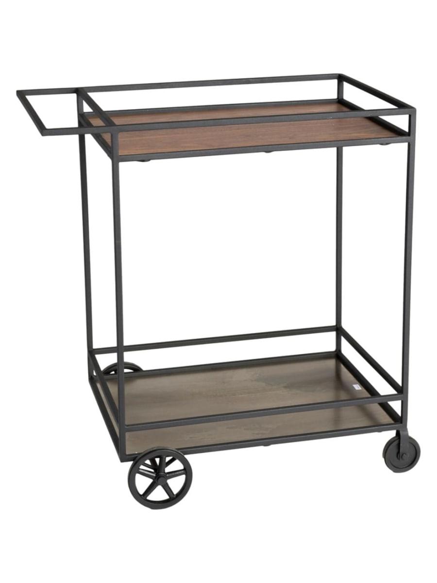 Black metal frame bar cart