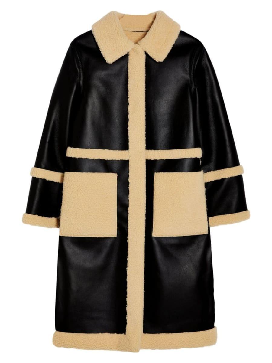 Hudson's Bay - Topshop - Faux-Leather & Faux Fur Long Reversible Coat