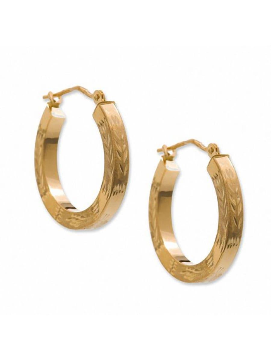 Peoples Jewellers - 14k Gold 2.5mm Square Hoop Earrings