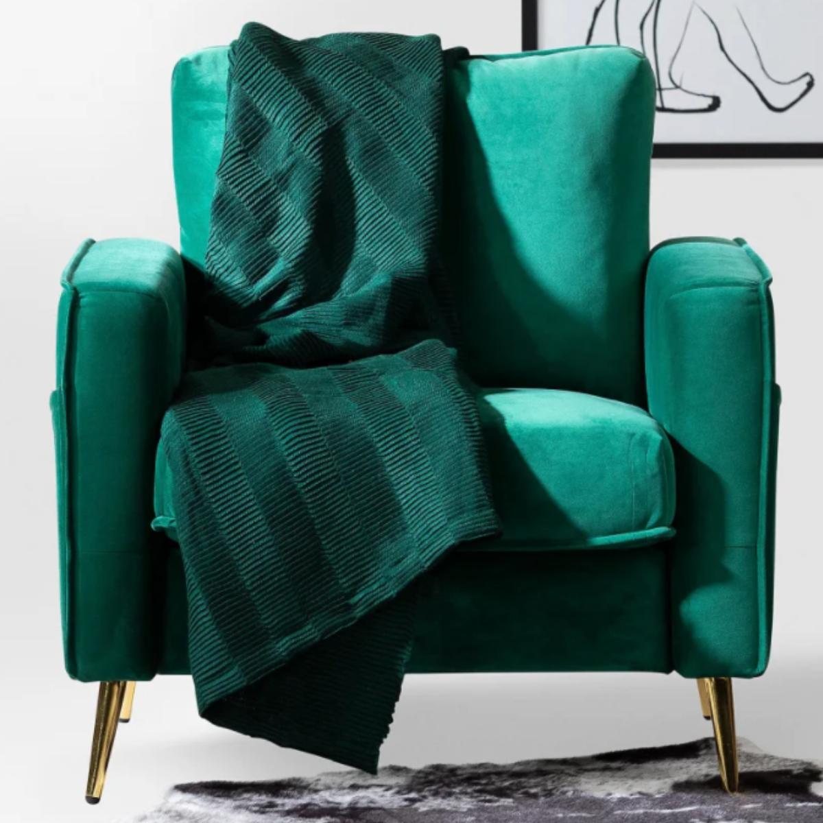 Simons Retro Velvet Armchair