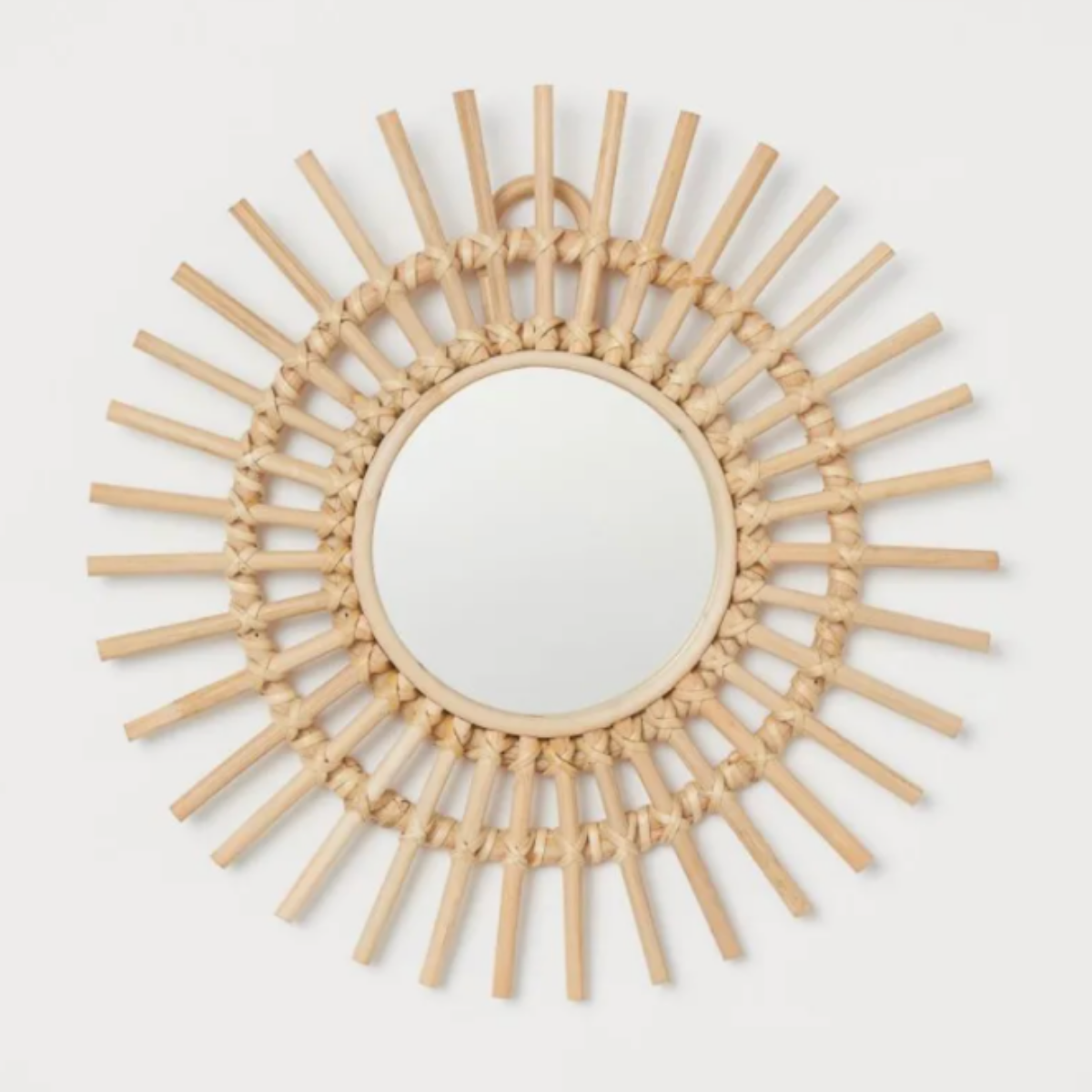 H&M Small Mirror with Rattan Frame