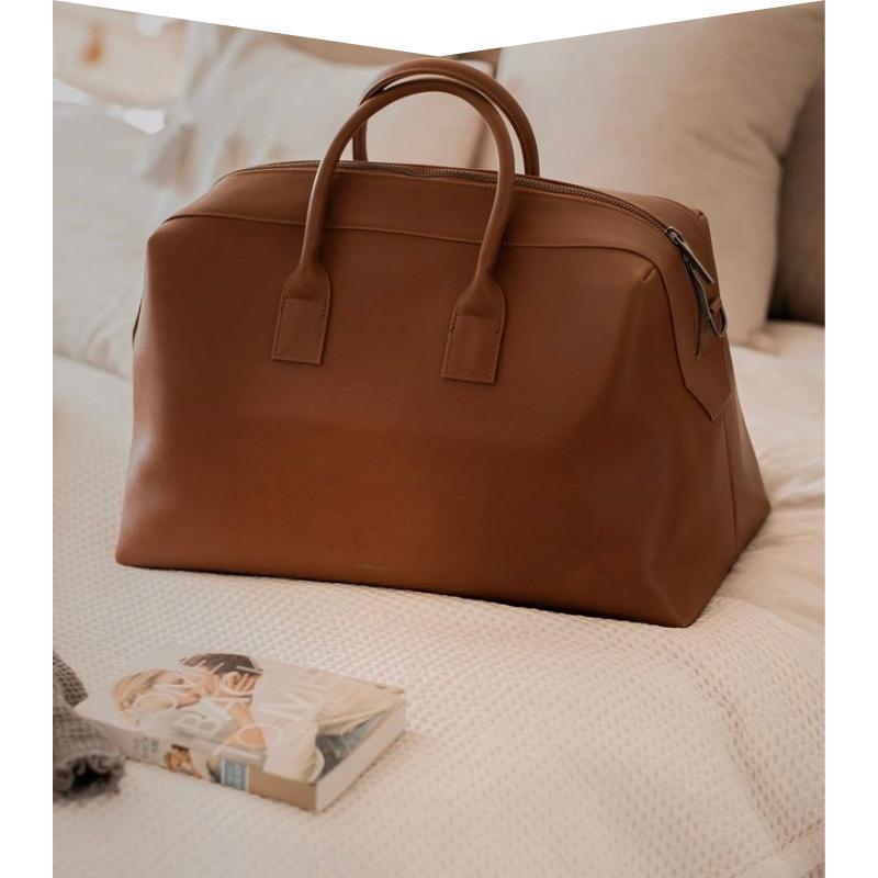 Brown Vegan Leather Weekend Bag from Matt & Nat