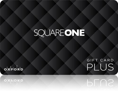 Square One gift card with reflection.