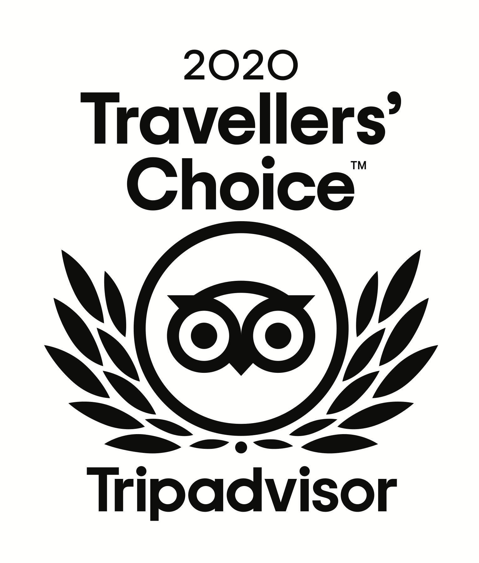 Trip Advisor Travellers' Choice 2020 - White Background