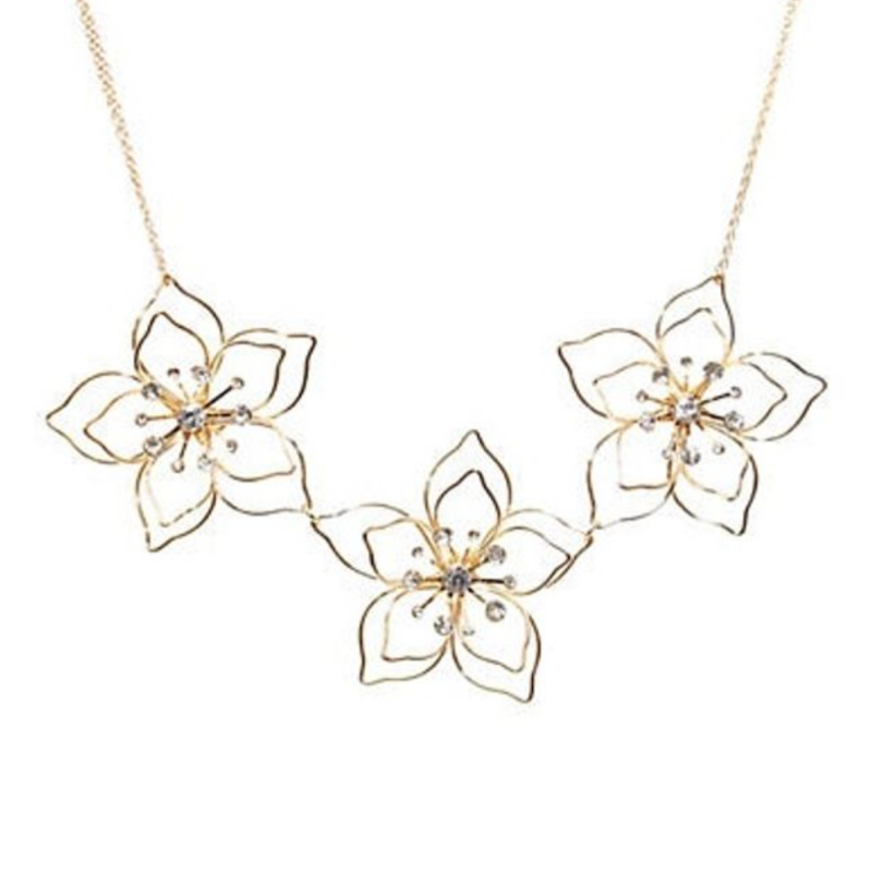 gold floral necklace from Hudson's Bay