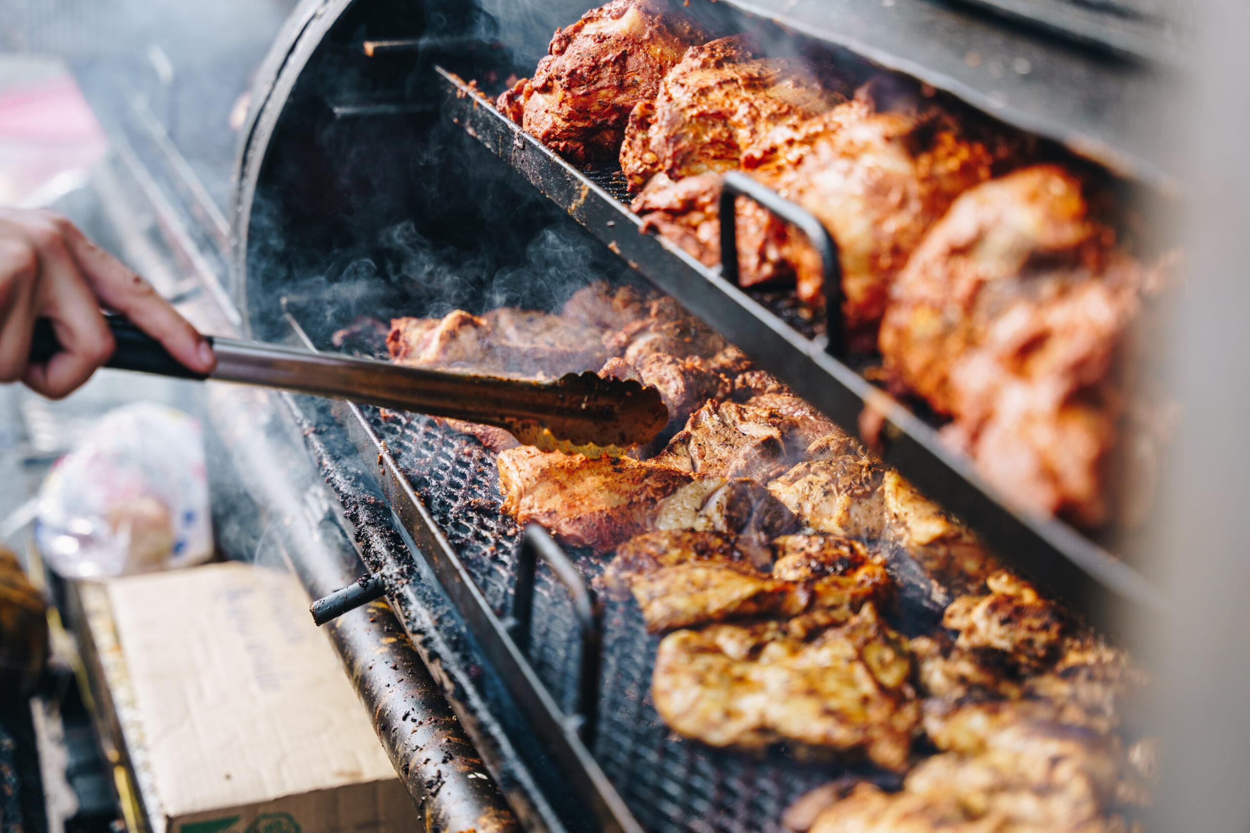 Food on BBQ Grill
