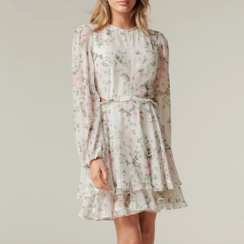 floral sleeved dress from Ever New