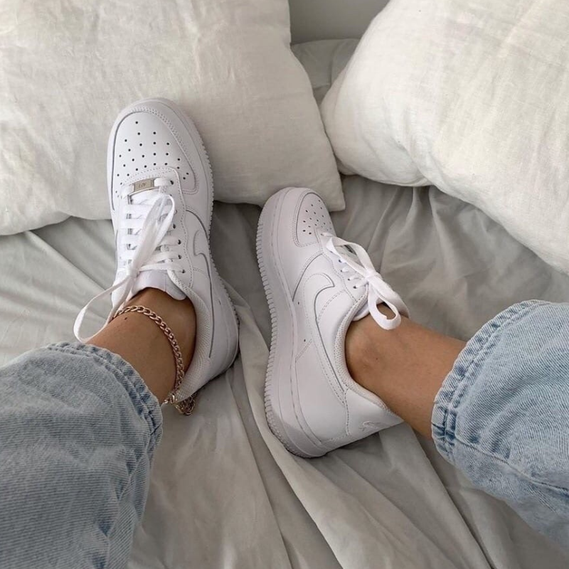 White Nike sneakers from Champs