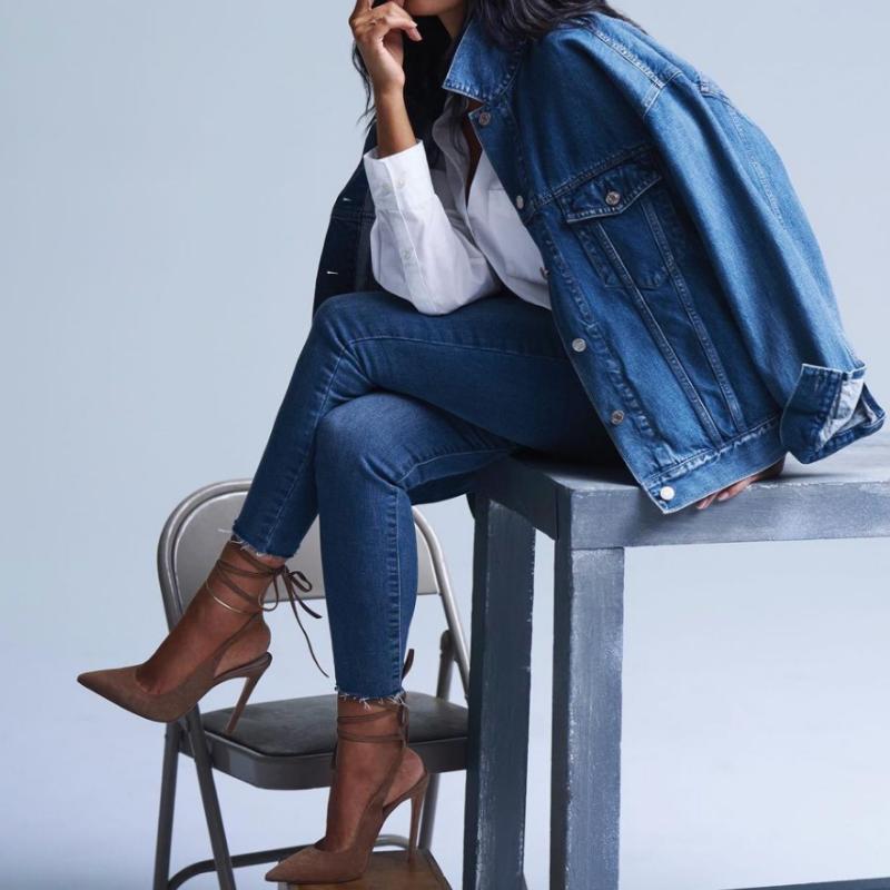 Gap denim jacket and jeans