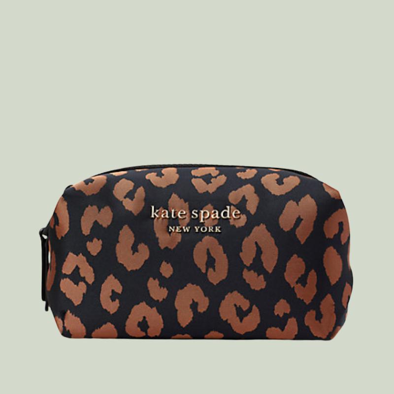 Animal print makeup bag from Kate Spade