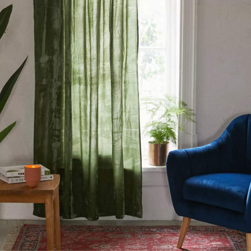 Green Curtains from Urban Outfitters