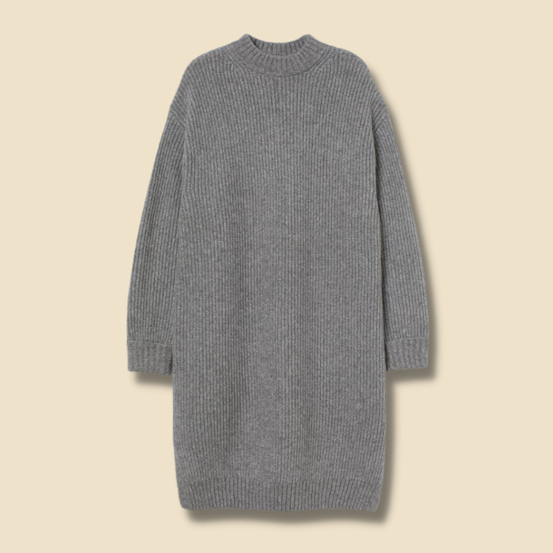 H&M grey knit turtle neck sweater