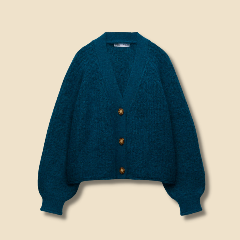 Zara blue knit cardigan
