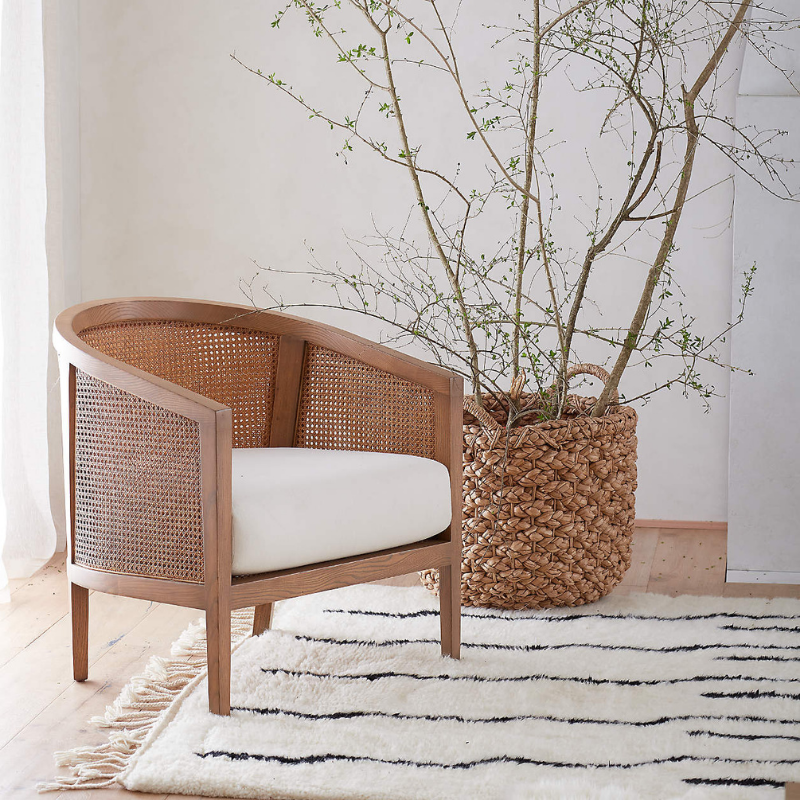 Rattan chair from Crate & Barrel