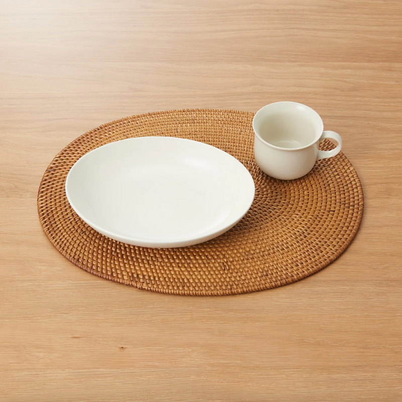 Rattan placemat from MUJI