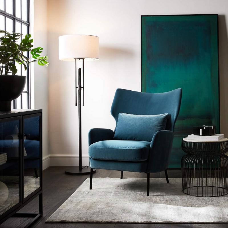 Velvet chair from Crate & Barrel