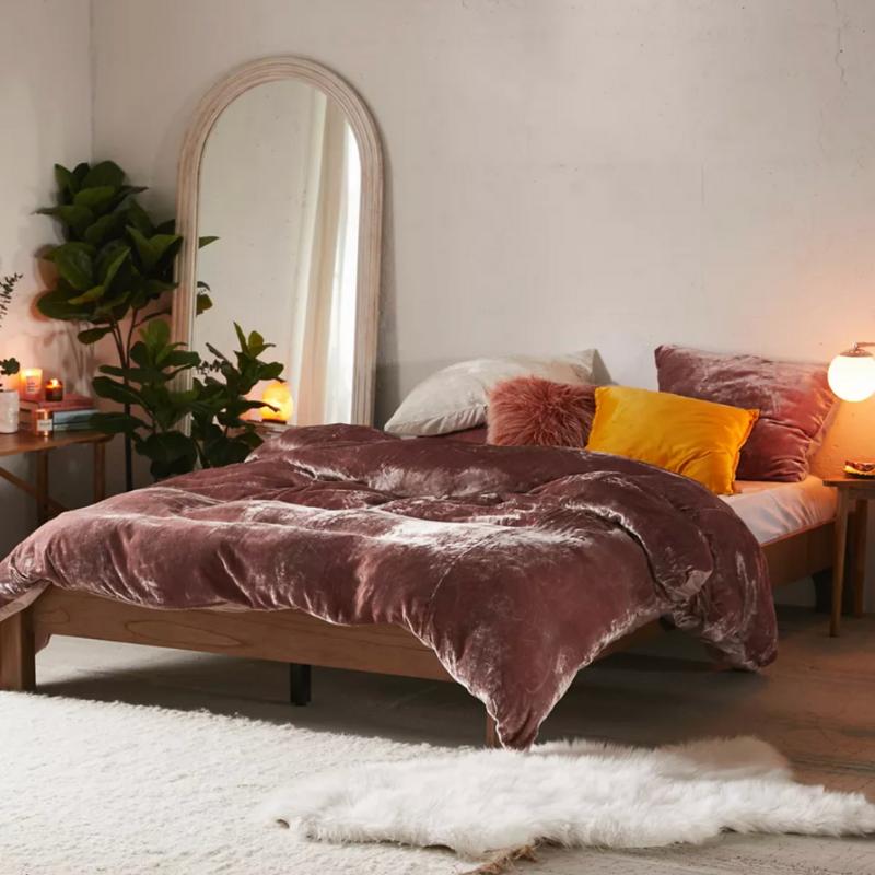 Velvet bedding from Urban Outfitters