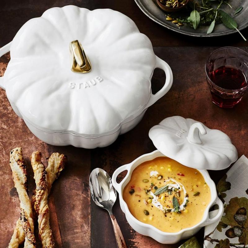 Staub pumpkin serving bowl